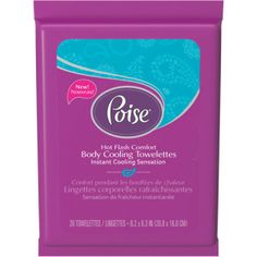 Poise cool towellettes great idea for heat intolerance with MS.  From managingmyms.com
