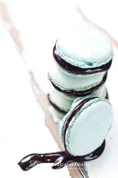 Macaron with Blueberry ganache