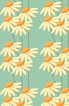 """""""You're the Only One"""" Daisy Pattern Textures Patterns, Fabric Patterns, Flower Patterns, Print Patterns, Flower Pattern Design, Motif Design, Graphic Patterns, Cool Patterns, Deco Floral"""