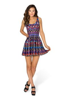 A Whole New World Scoop Skater Dress by Black Milk Clothing $95AUD
