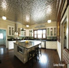 Genial Ready To See Our New, Vintage Kitchen?   Living Vintage Tin Ceiling Kitchen,