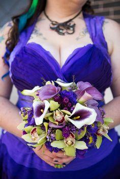 Bride closeup