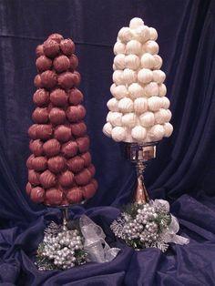 Chocolate & White Chocolate cake truffles