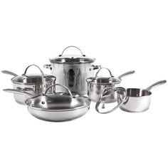 Stainless Steel Cookware Sets Pots & Pans W/ Lids Cooking Set Starfrit 10-piece  #STARFRIT