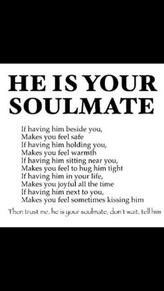 I can honestly say, truthfully, that JLM is my soulmate for life. Cute Love Quotes, Romantic Love Quotes, Love Quotes For Him, Me Quotes, Cant Wait To See You Quotes, Quotable Quotes, I Love Him, My Soulmate, Boyfriend Quotes