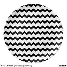 Black Chevron Plate