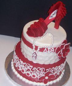 delta sigma theta birthday girl cake by charliecakes on Cake Central