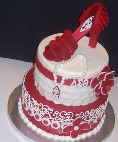 Image detail for -delta sigma theta birthday girl cake by charliecakes on Cake Central