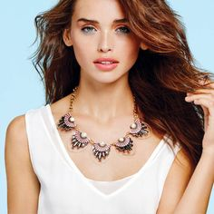 mark. Free & Clear Necklace looks gorg with mark.'s Light & Layered Top! #springstyle