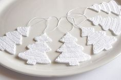 white christmas decorations - Google Search