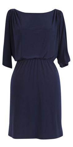 Jessica Simpson Cold-Shoulder Dress Navy Blue   Size Large  Retail $98.00 Pretty #JessicaSimpson #Blouson #Cocktail