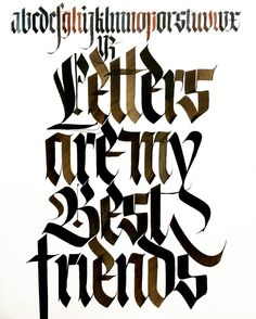 Letters are my best friends #sachinspiration #calligraphy #handlettering…