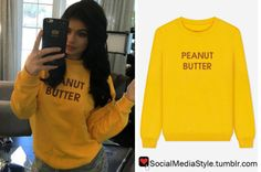 Buy Kylie Jenner's Yellow Peanut Butter Sweater, here!