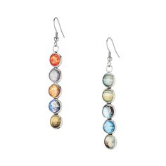 Celebrate the solar system in celestial style with these charming mismatched earrings.