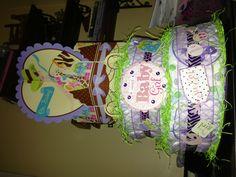 Modern Mom themed baby shower - diaper cake