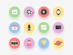 Flat Icon Set by Ilja Miskov for Peppers
