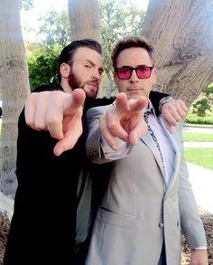 Chris Evans & Robert Downey Jr.
