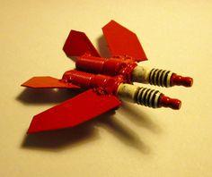 Metal Sculpture Spark Plug Twin Engine Jet