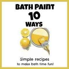Bath Activities for Kids: Baby Bath Paint Recipe