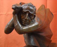 Ernst Barlach Expressionist Sculpture Der Racher The Avenger Bronze Statue : $950