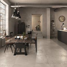 Tarsus Matte Gray Porcelain Tile - 12 x 24 - 100129287 Stone Look Tile, Gray Polish, Polished Porcelain Tiles, Cement Walls, Dining Room Inspiration, Wall And Floor Tiles, Floor Decor, Tile Design, Gym Design