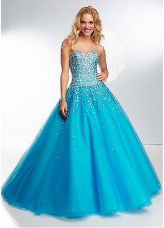 2014 Gorgeous Blue Masquerade Dresses for Quinceanera at sweetdressale.com