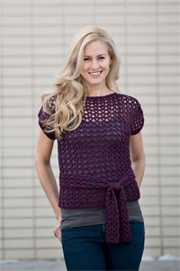 I am absolutely in love with this crochet top. Blackberry Lace Top Crochet Pattern - Shirt Crochet Pattern for Women