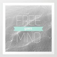 Free Your Mind Art Print by Galaxy Eyes