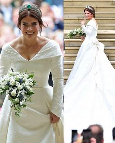 #New The wedding of Princess Eugenie of York and Jack Brooksbank (12th October)❤️ . The bride: - Princess Eugenie's Wedding dress has been designed by Peter Pilotto and Christopher De Vos. Princess Eugenie met the designers when she was co-hosting an event in support of women artists. Her Royal Highness has been wearing designs by the brand for several years. Princess Eugenie, Mr Pilotto and Mr De Vos have worked closely together on the design of the dress. The designers undertook archive…