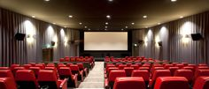 One of the state-of-the-art cinemas at the iconic Barbican Centre located in the heart of London.