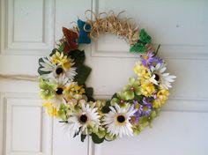 Spring wreath! DIY Materials all from dollar tree.