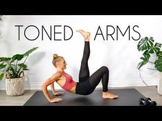 10 Min Toned Arms Workout At Home (Quick + Intense) - Workout Plan 15 Min Workout, Insanity Workout, Best Cardio Workout, Workout Videos, Yoga Videos, Workout Plans, Workout Fitness, Butt Workout, Arm Workout For Beginners