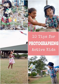 How to photograph kids in motion: photographing active kids and get crisp pictures without the blur. Great photography tips!