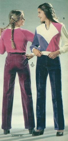 Teen Girls Fashion from a 1980 catalog #vintage #fashion #1980s