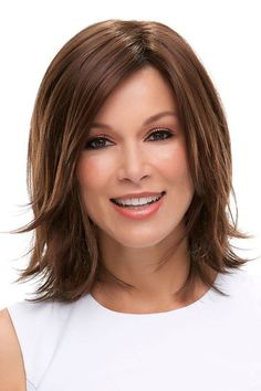 Rosie by Jon Renau Wigs - Lace Front, Monofilament Wig - hair design/products - Choppy Bob Hairstyles, Long Bob Haircuts, Girl Haircuts, Straight Hairstyles, Medium Hair Cuts, Short Hair Cuts, Medium Hair Styles, Short Hair Styles, Bobs For Thin Hair