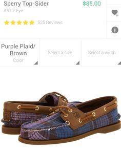 Purple plaid sperrys