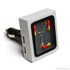Cargador USB condensador de flujo de Volver al Futuro