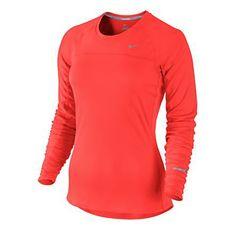 Womens Nike Miler Long Sleeve No Zip Technical Tops