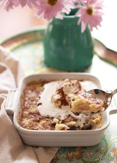 Rice Pudding For One  INGREDIENTS 1 large egg ¾ cup milk ¼ teaspoon salt ¼ teaspoon ground cinnamon ⅛ teaspoon ground nutmeg 3 tablespoons granulated sugar ¼ teaspoon vanilla extract 1 cup cooked rice whipped cream, optional