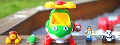 Harry Copter's Animal Rescue est un jouet en plastique qui comprend Harry l'hélicoptère, Dave son pilote-vétérinaire et 3 animaux en danger à transporter d'urgence en lieu sûr. #WowToys