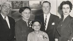 By Bill Lattin, Orleans County Historian Posted 8 December 2014 ALBION – In the fall of 1960, two longtime employees of Swan Library retired. Seated in front is Miss Inez Warner, assistant librarian, retiring after 41 years.   In back are, left to right: Francis H. Black Sr., president of the board of trustees; Miss Lucy Fancher, retiring after 17 years as librarian; John D. Robinson, Albion mayor; and Joan Farnsworth, library staff.