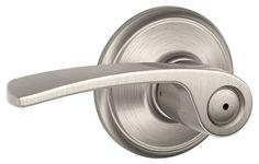 Schlage F40-MER Merano Privacy Door Lever Set Satin Nickel Leverset Privacy