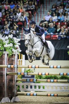 Betram Allen and MOLLY MALONE win the first round of the 2015 FEI World Cup Final in Las Vegas.