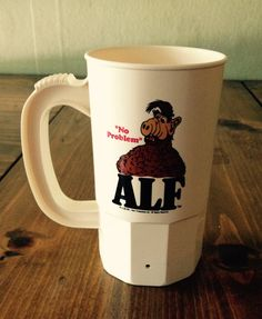 Vintage Alf No Problem SuperMug 1987 1980s Cup Super by Piklandia