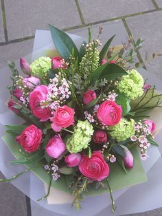 Floral bouquet of #Spring #Tulips, #Ranunculus, #Vibernum and #Waxflower. Sweet Love Quotes, Love Is Sweet, Spring Bouquet, Spring Flowers, Floral Bouquets, Floral Wreath, Mothers Day Delivery, Wax Flowers, Mothers Day Flowers