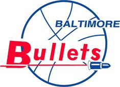 Baltimore Bullets Logo - Bullets in red on a basketball with a bullet flying (SportsLogos.Net)