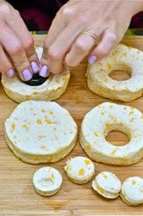 Campsite-approved DIY donuts — made from store-bought pastry dough.