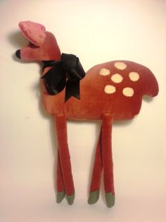 Darcy deer soft toy by madebyswimmer on Etsy, £25.00