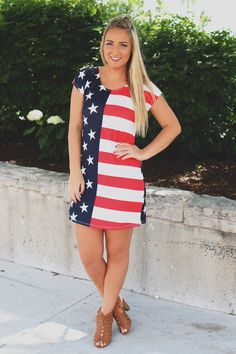 faefff69da Show off your Fourth of July spirit with this Stars  amp  Stripes Dress! You