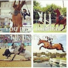"equestrians are sooo much stronger than you so called ""athletes"""